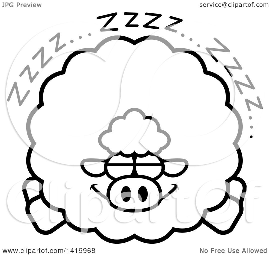 sleeping sheep coloring pages - photo#12