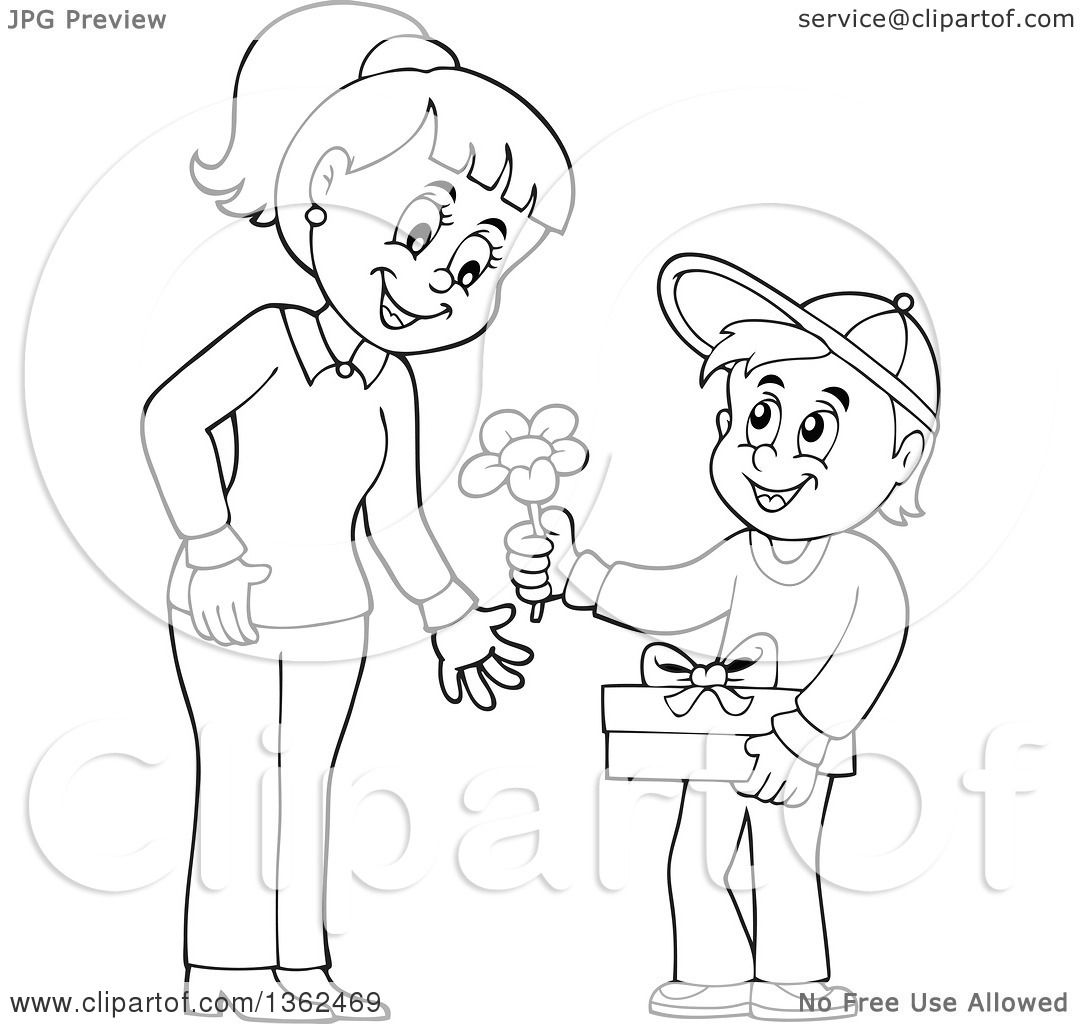 Mothers day coloring pages flowers