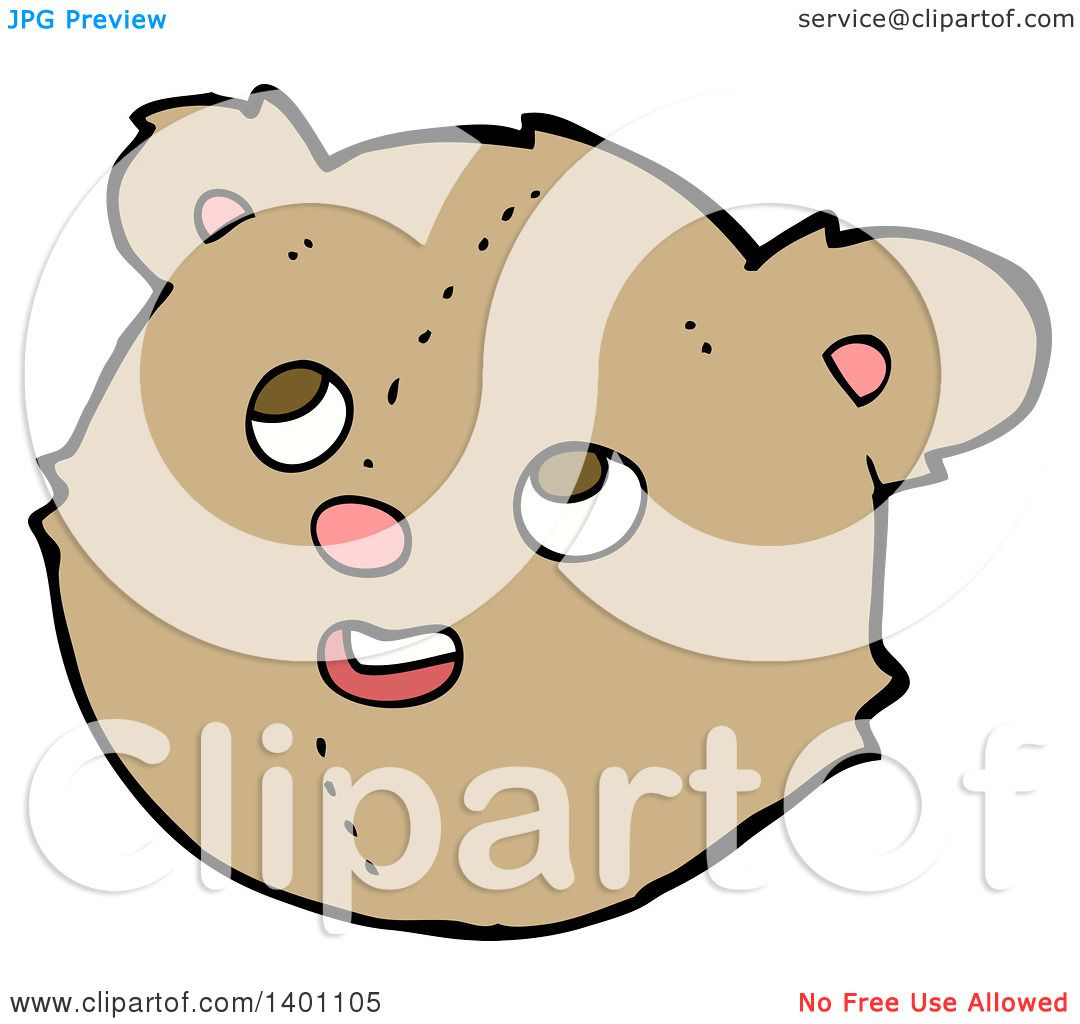 Clipart of a Cartoon Brown Teddy Bear - Royalty Free ...
