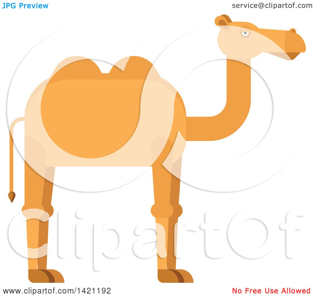 clipart of a cartoon camel royalty free vector illustration by rh clipartof com