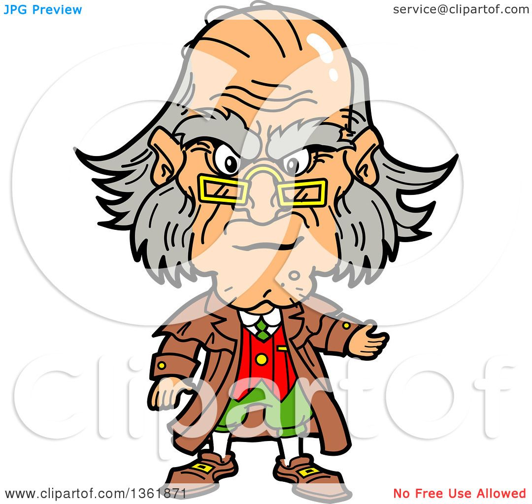 clipart of a cartoon caricature of ebenezer scrooge being angry at rh clipartof com ebenezer scrooge clipart christmas scrooge clipart