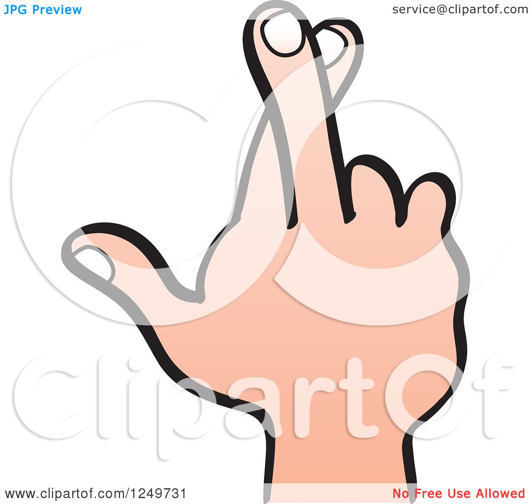 Fingers Crossed Clip Art - Royalty Free - GoGraph