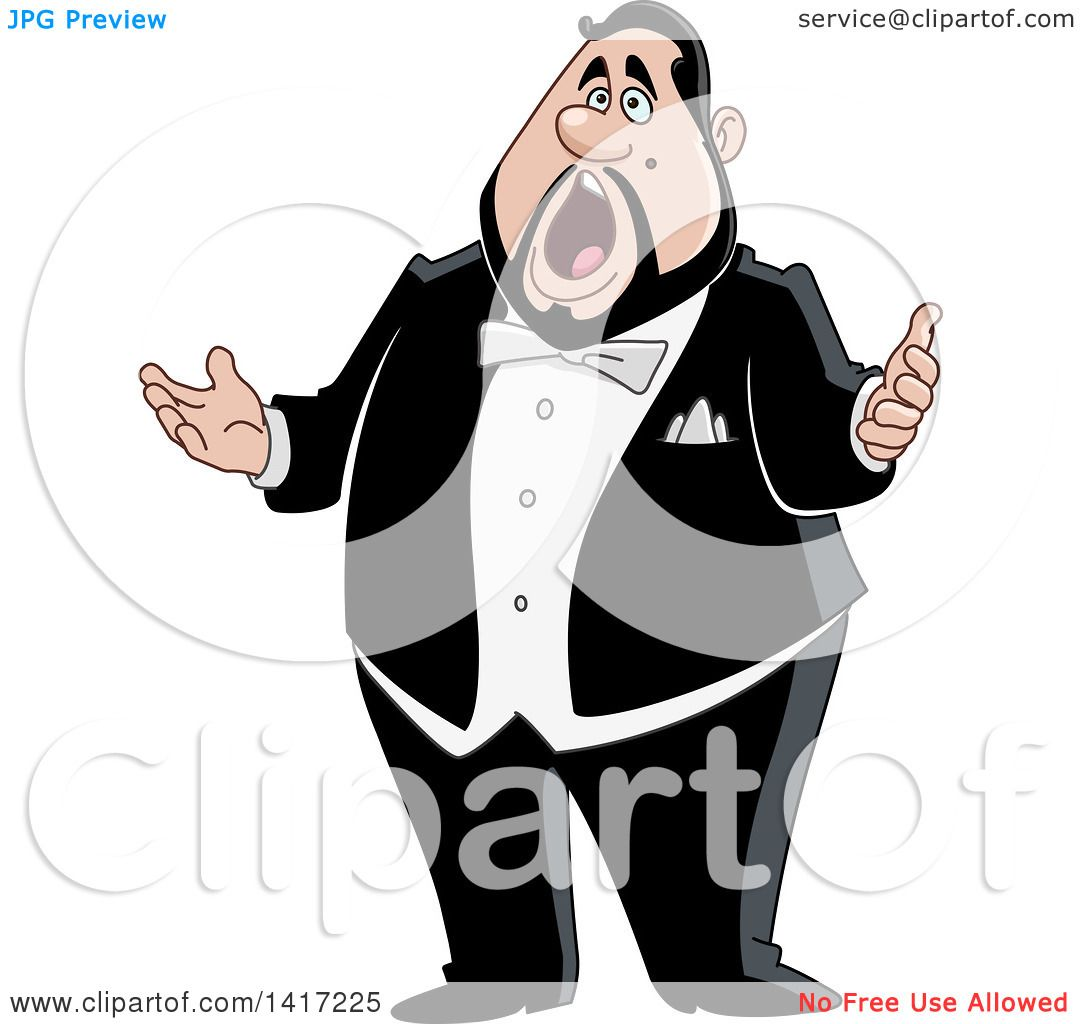 clipart of a cartoon chubby male opera singer royalty opera singer clip art free Singing Opera