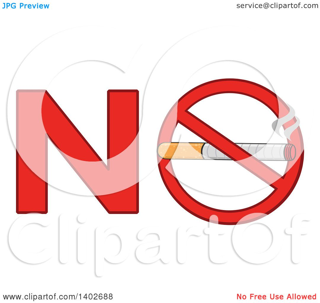 Clipart of a cartoon cigarette in a prohibited restricted for Free clipart no copyright