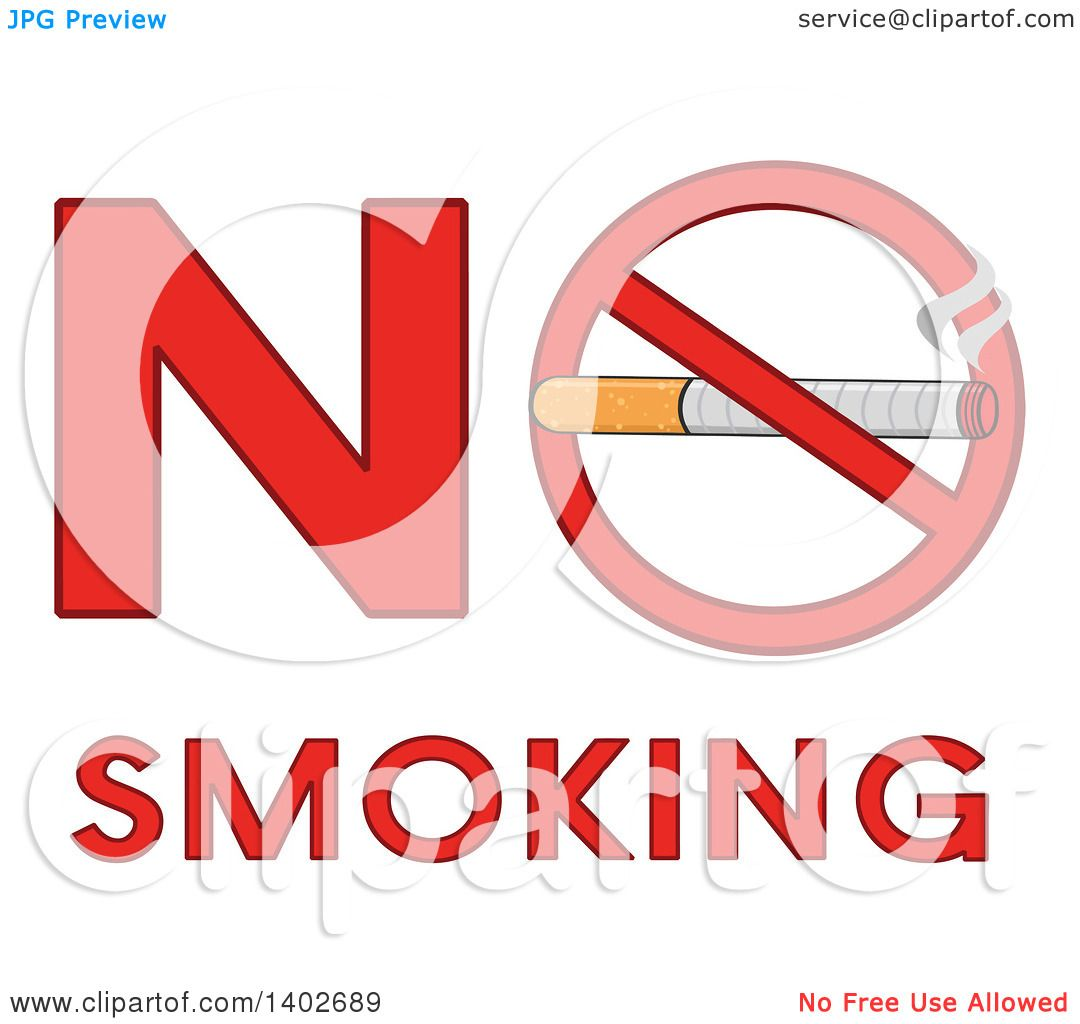 Clipart of a cartoon cigarette in a prohibited restricted symbol in clipart of a cartoon cigarette in a prohibited restricted symbol in the words no smoking royalty free vector illustration by hit toon buycottarizona Images