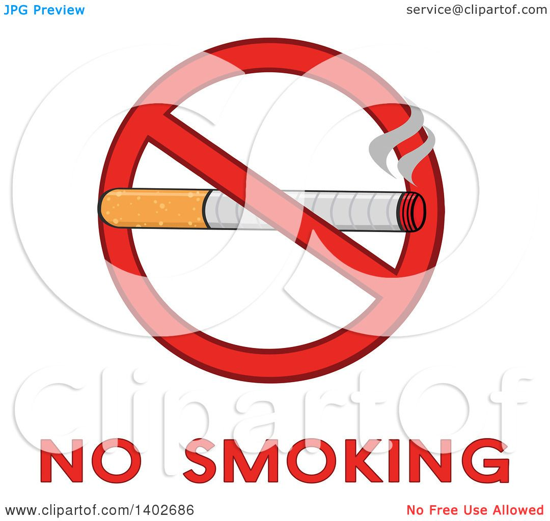 Clipart of a cartoon cigarette in a prohibited restricted symbol clipart of a cartoon cigarette in a prohibited restricted symbol over no smoking text royalty free vector illustration by hit toon buycottarizona Images