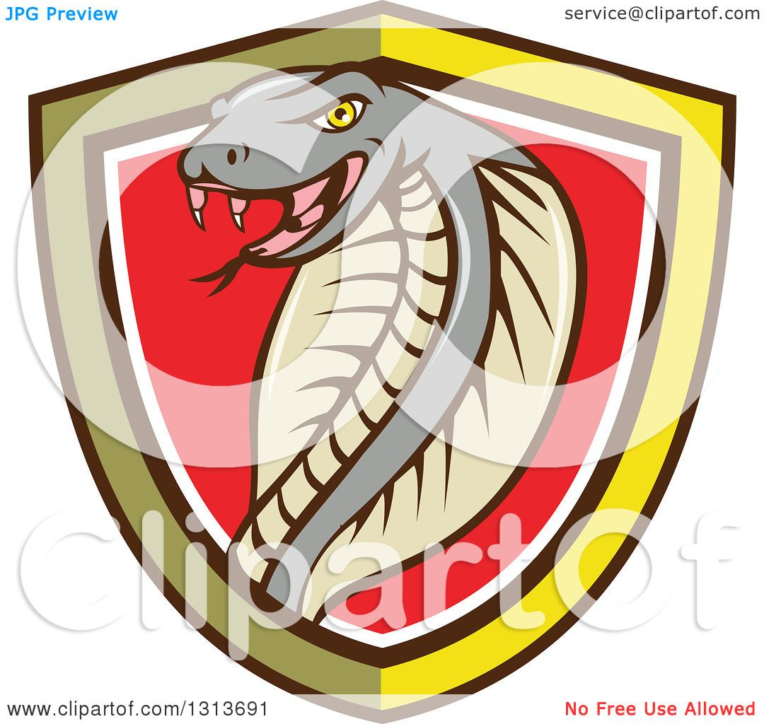 Clipart of a Cartoon Cobra Snake in a Yellow Black White ...