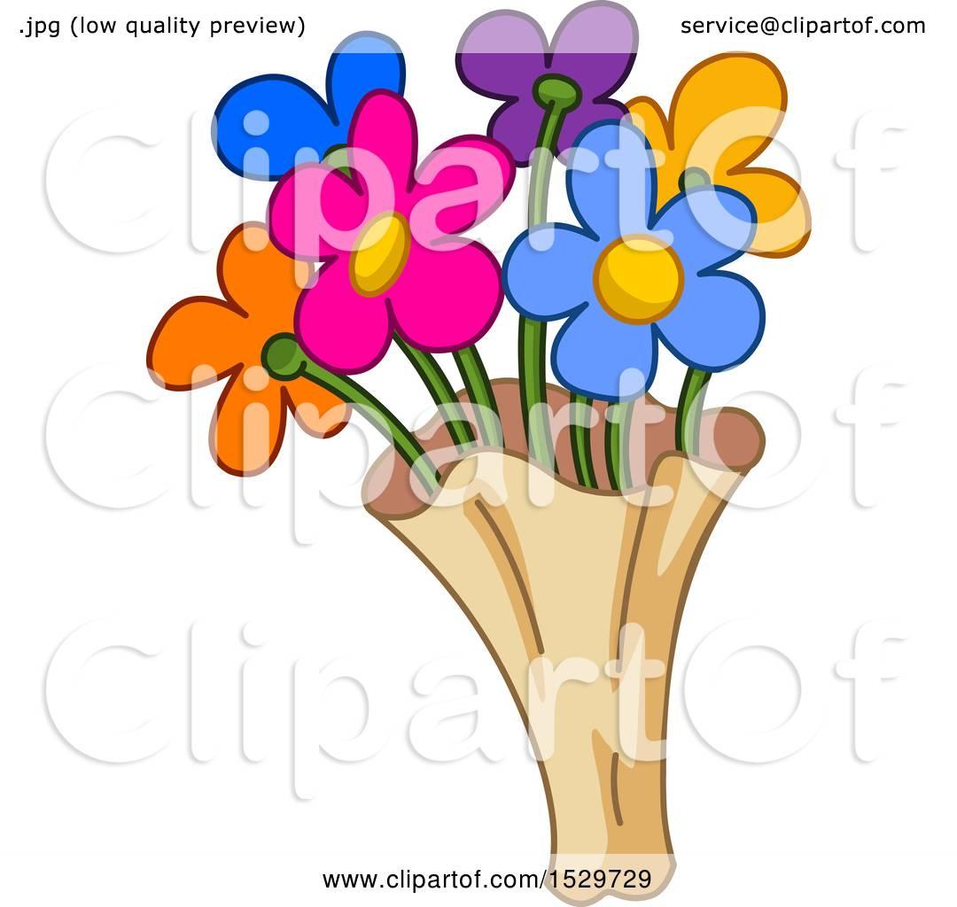 Clipart of a cartoon colorful bouquet of flowers royalty free clipart of a cartoon colorful bouquet of flowers royalty free vector illustration by yayayoyo izmirmasajfo Choice Image