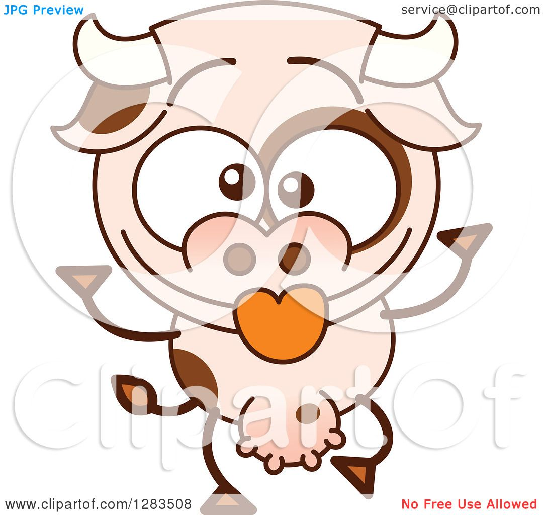 clipart of a cartoon cow making funny faces royalty free vector