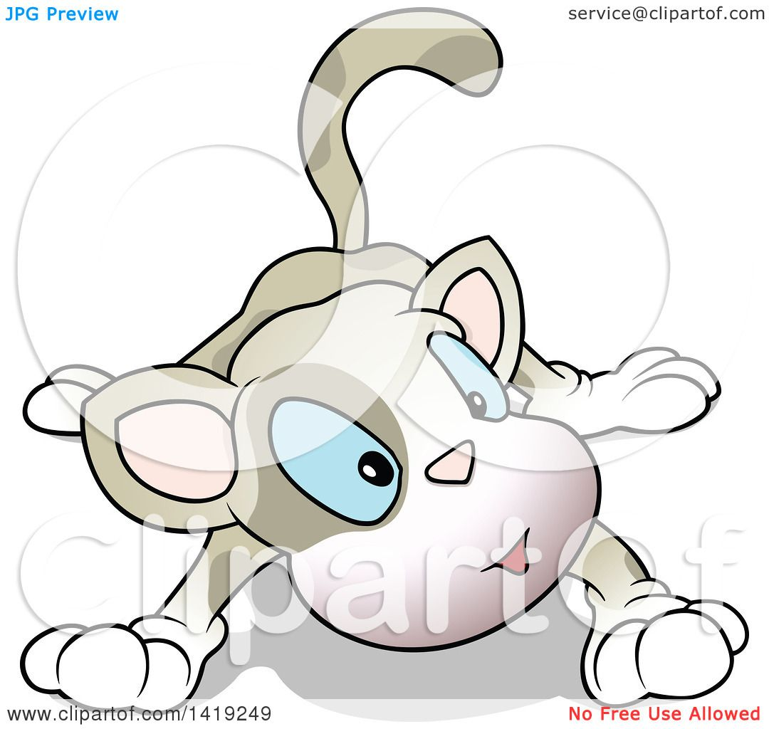 Clipart of a Ca... Curious Cat Clipart