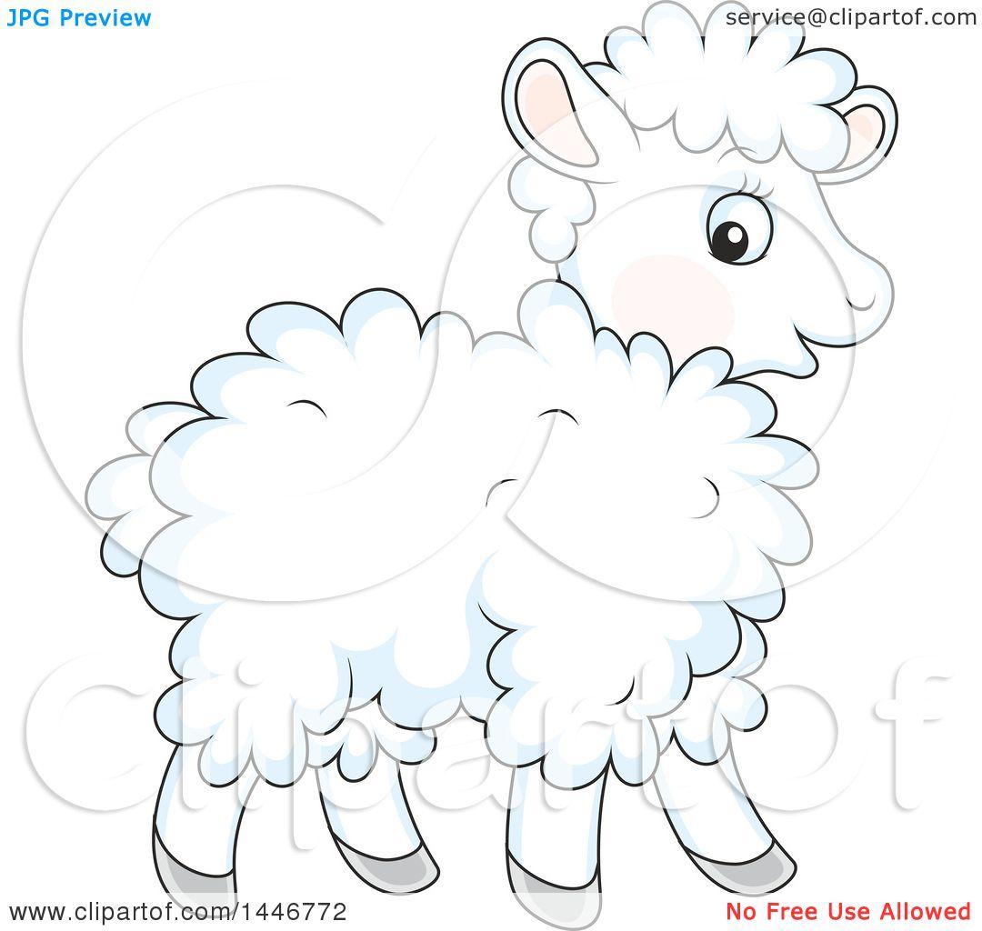 Clipart of a Cartoon Cute Baby Lamb Sheep - Royalty Free Vector ... for Baby Lamb Clipart  242xkb