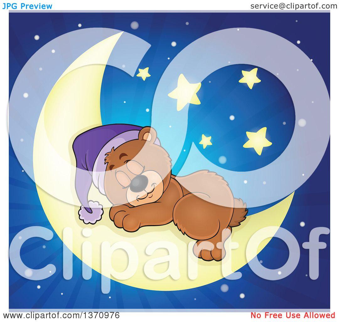 Clipart of a Cartoon Cute Brown