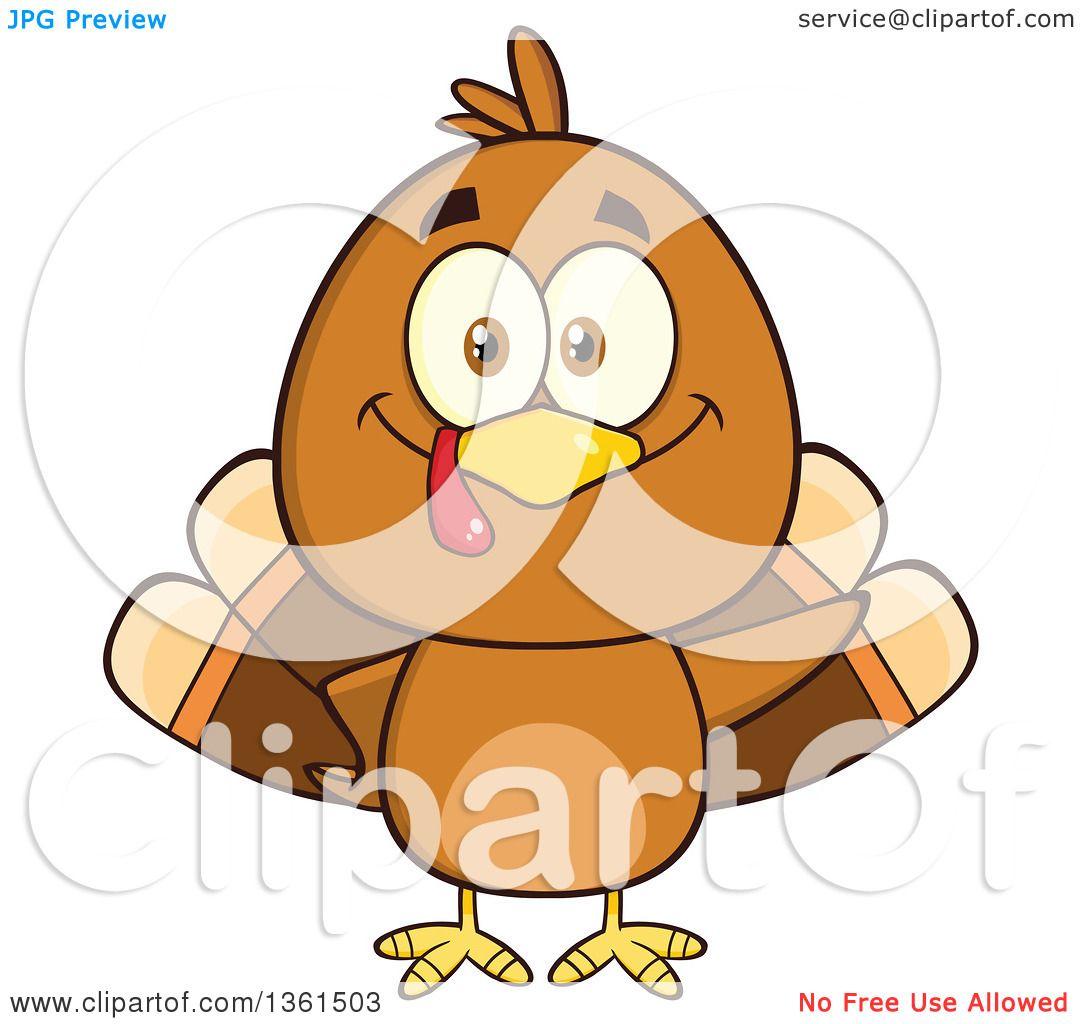 clipart of a cartoon cute thanksgiving turkey bird waving