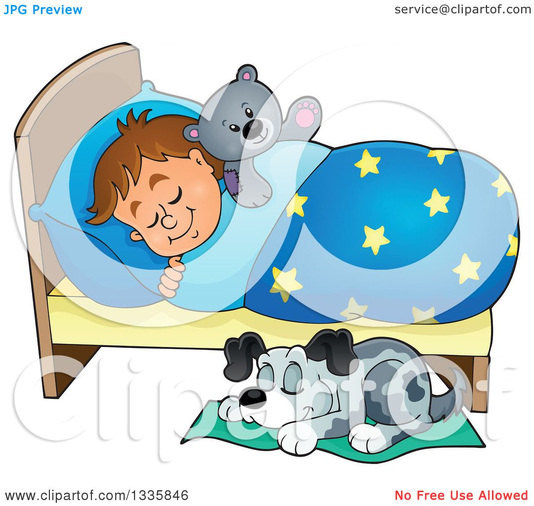 clipart dog in bed - photo #28