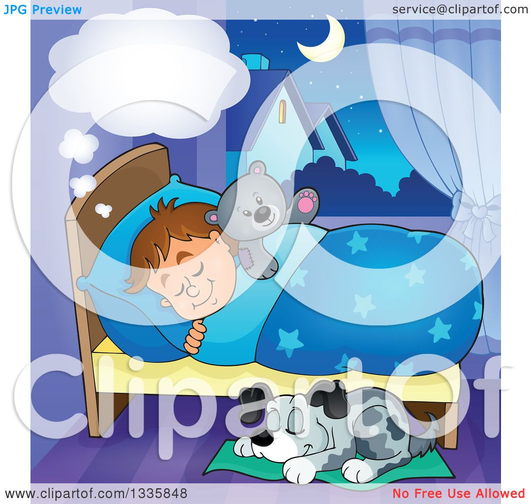 clipart dog in bed - photo #30