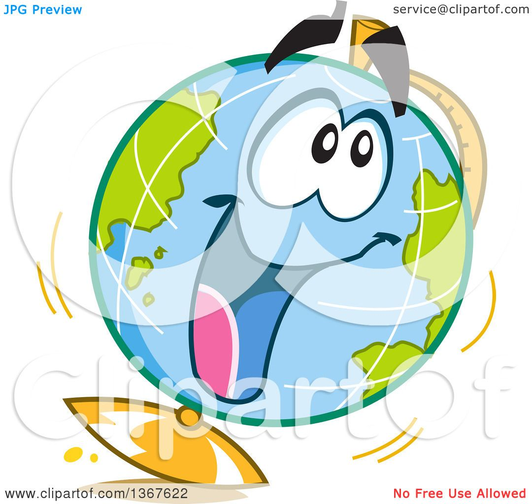 clipart of a cartoon excited desk globe character royalty free rh clipartof com Free Vector Backgrounds Free Vector File Clip Art