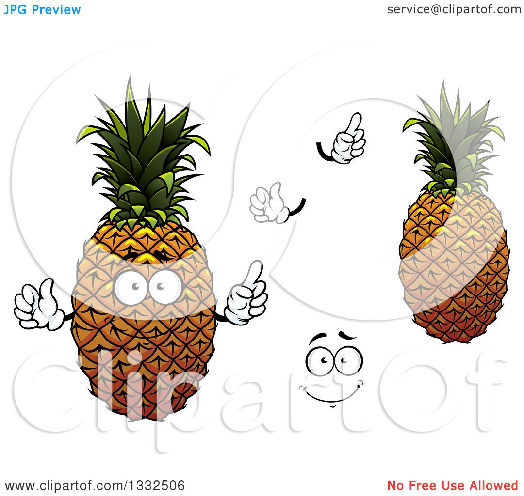 Pineapples 2 Clip Art