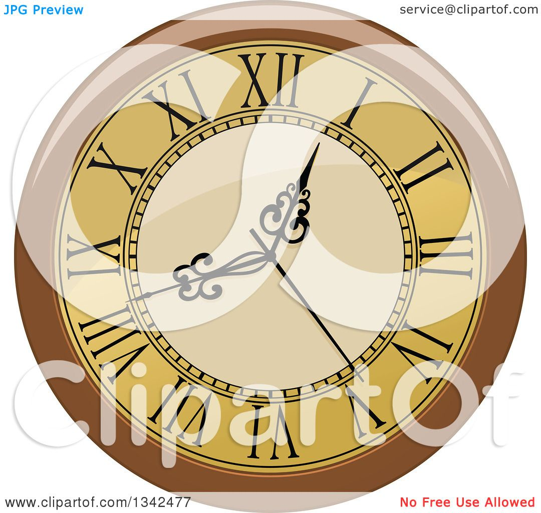 Clipart of a Cartoon Fancy Wall Clocks - Royalty Free Vector ...