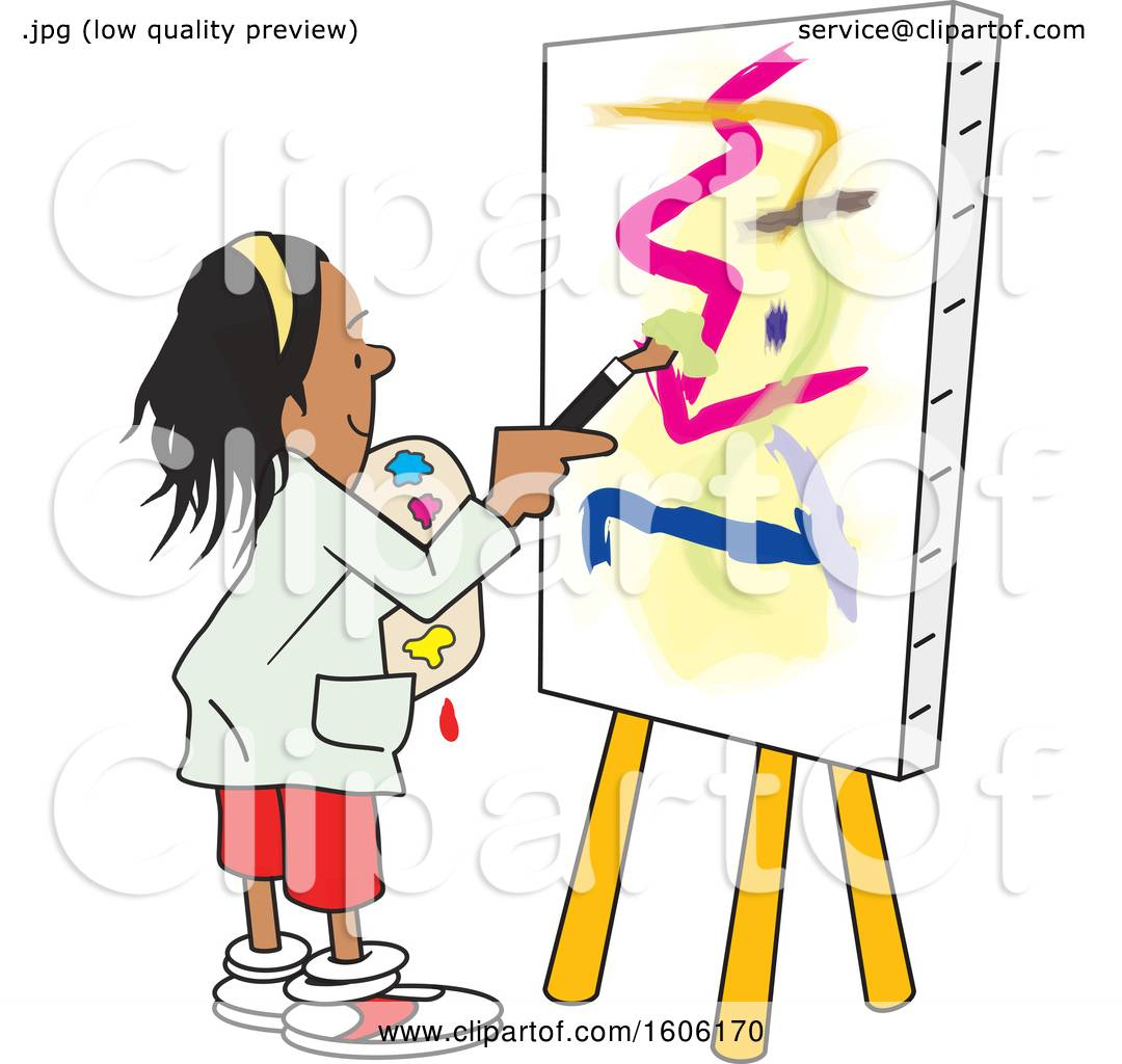 Free Clip Art Woman Covered In Paint