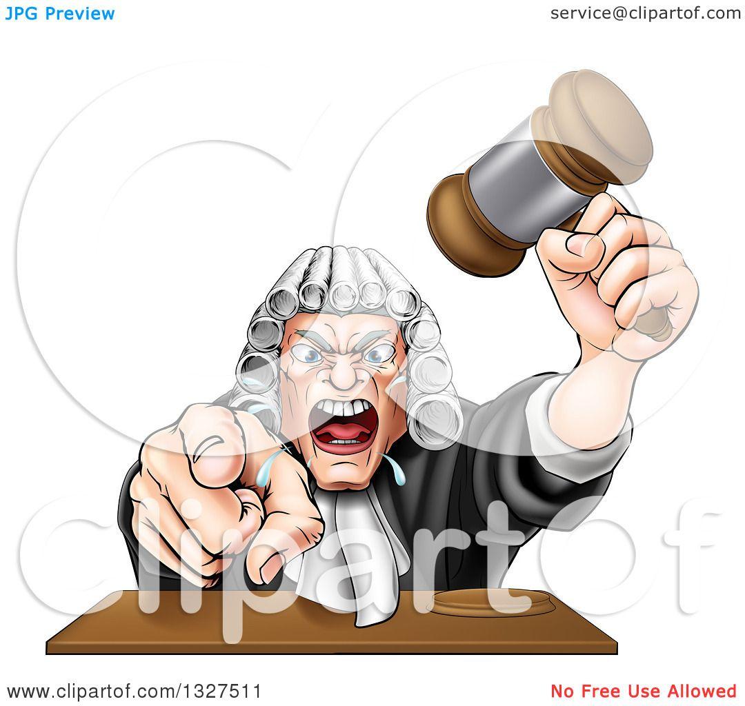 Mean Judge Clipart