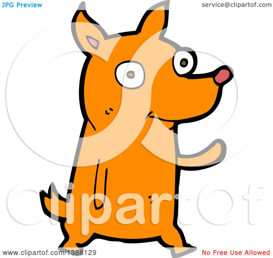 clipart of a cartoon fox royalty free vector illustration by