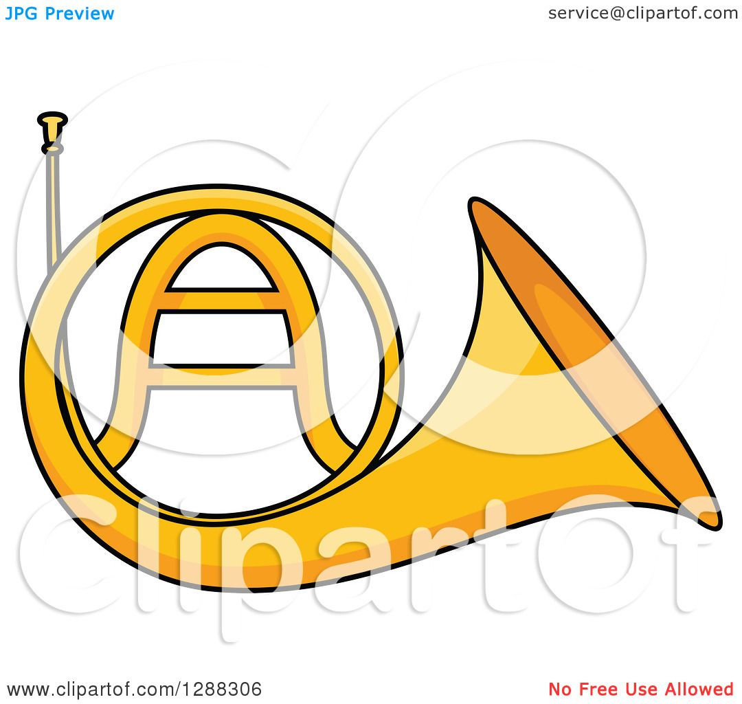Clipart of a cartoon golden french horn royalty free vector clipart of a cartoon golden french horn royalty free vector illustration by vector tradition sm biocorpaavc Gallery