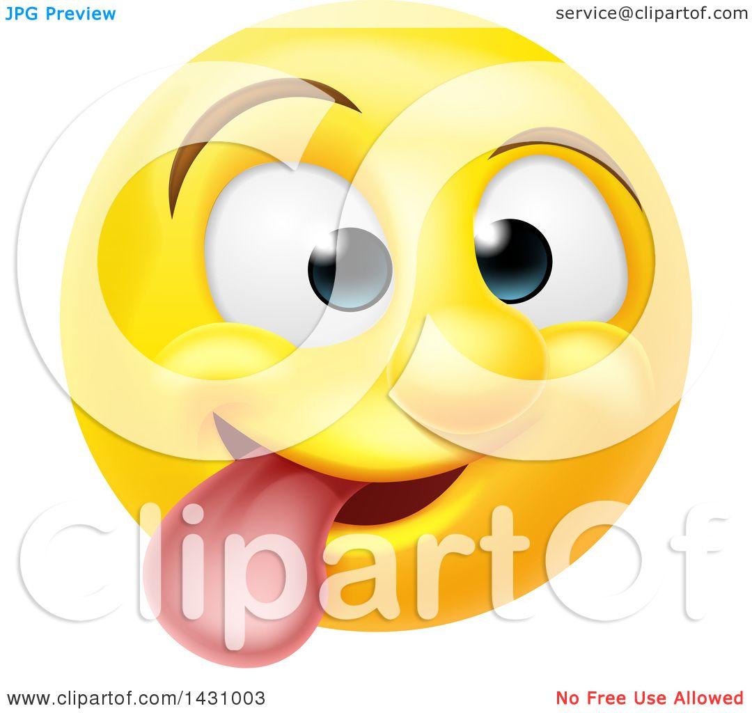 clipart of a cartoon goofy yellow smiley face emoji emoticon rh clipartof com
