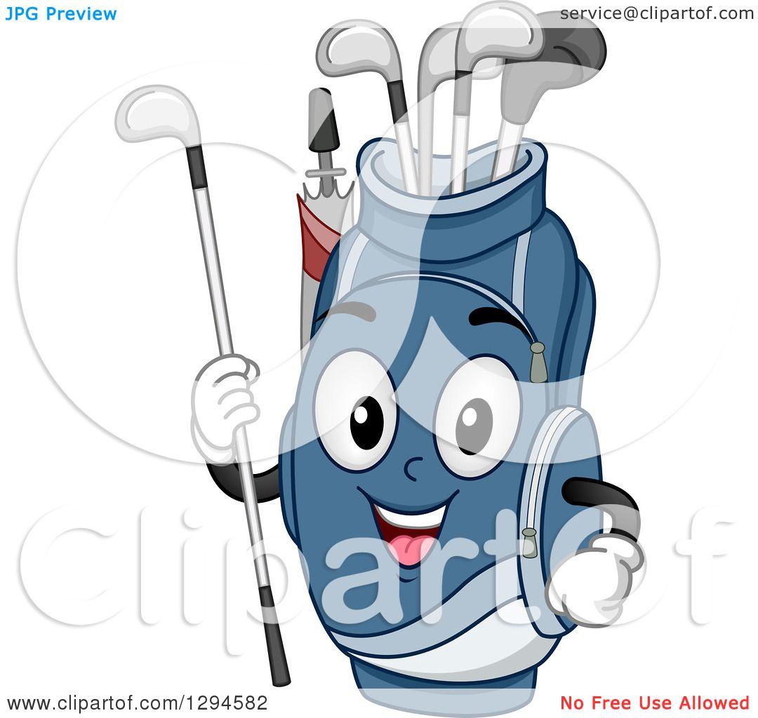 Cartoon golf bag
