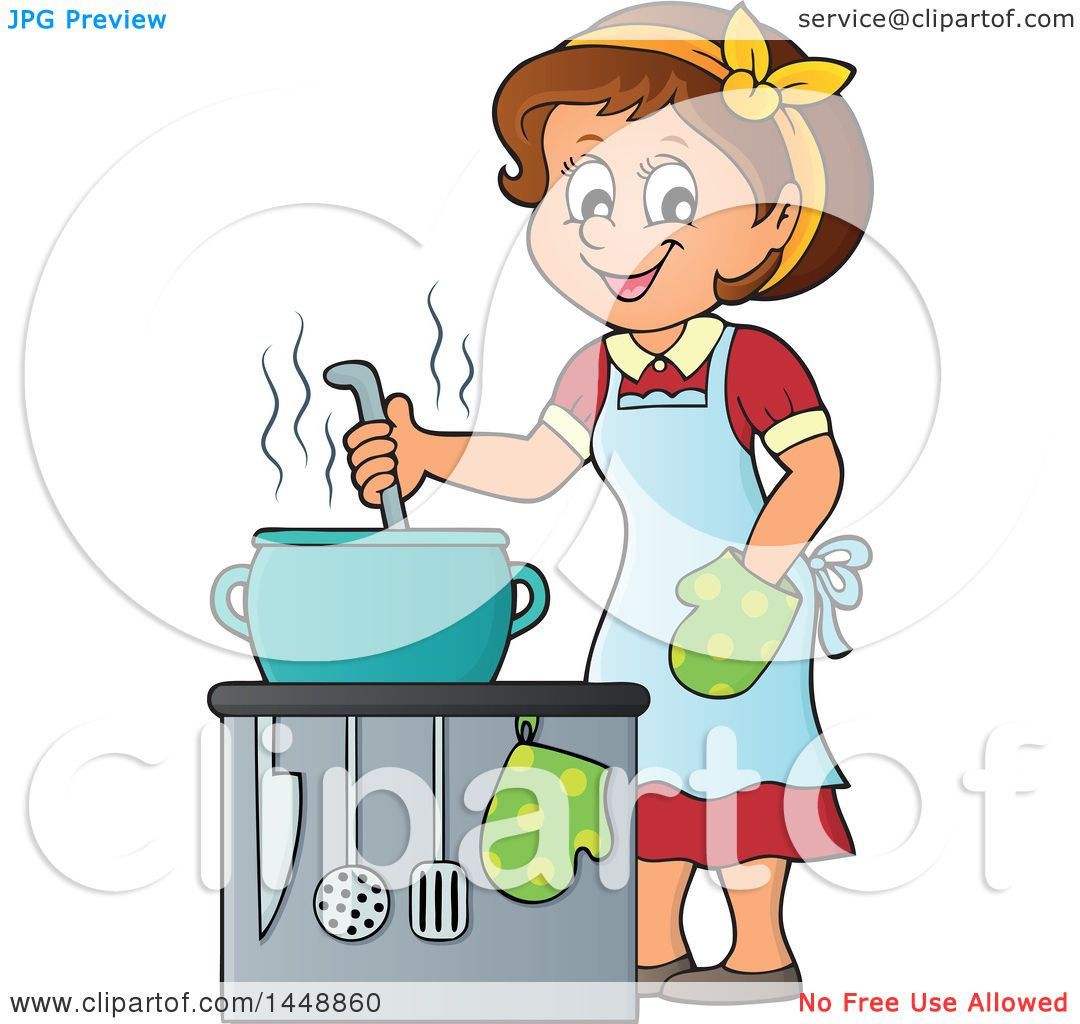 Royalty-Free (RF) Kitchen Clipart, Illustrations, Vector Graphics #1