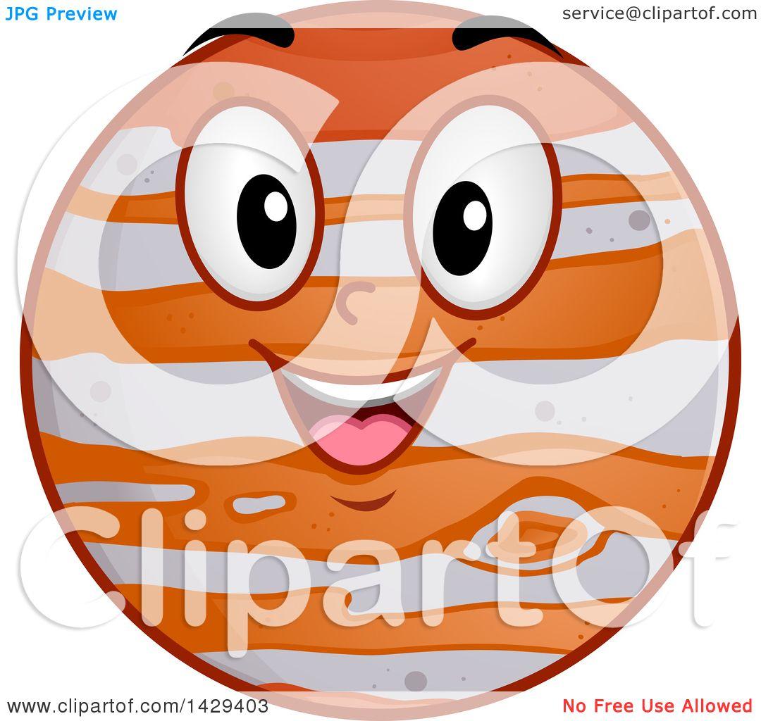 clipart of a cartoon happy planet jupiter mascot royalty free rh clipartof com  jupiter animated clipart