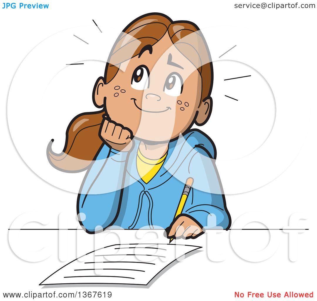 writing essay cartoon