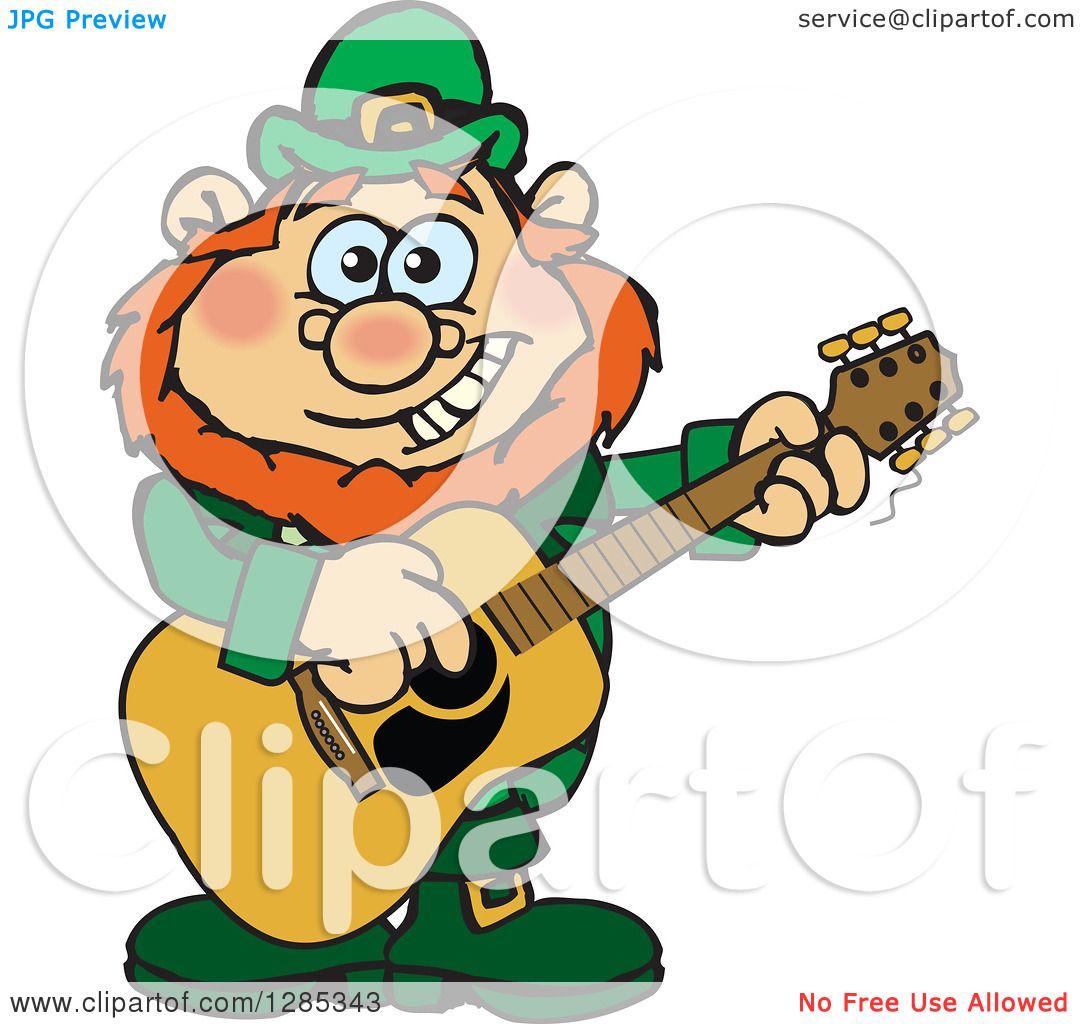 Clipart Of A Cartoon Happy St Patricks Day Leprechaun