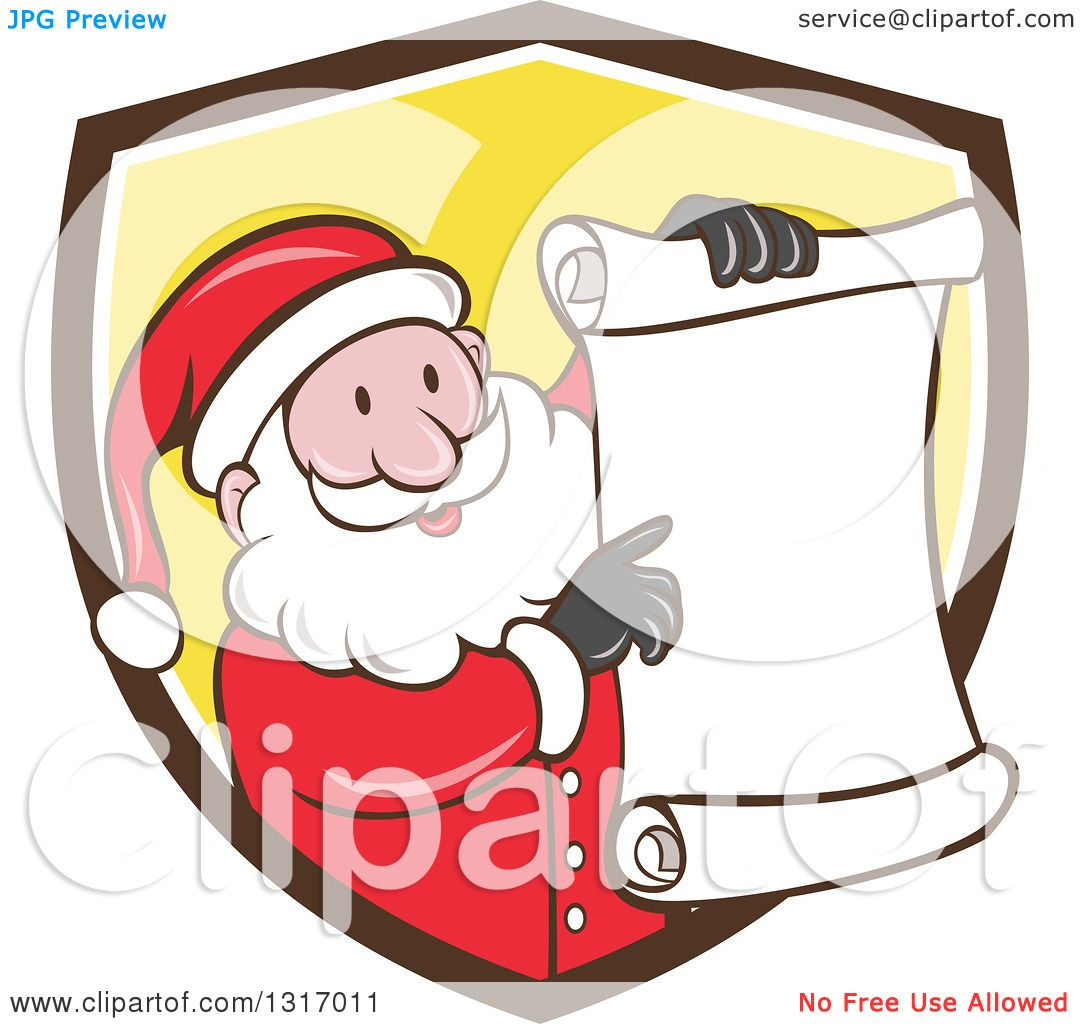 clipart of a cartoon happy white santa claus holding and pointing to rh clipartof com free clip art christmas stars free clip art christmas stationery
