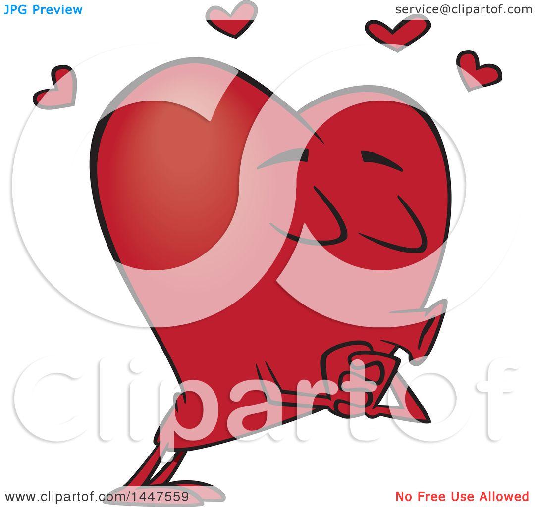 Clipart of a Cartoon Heart Mascot Character Puckered up ...