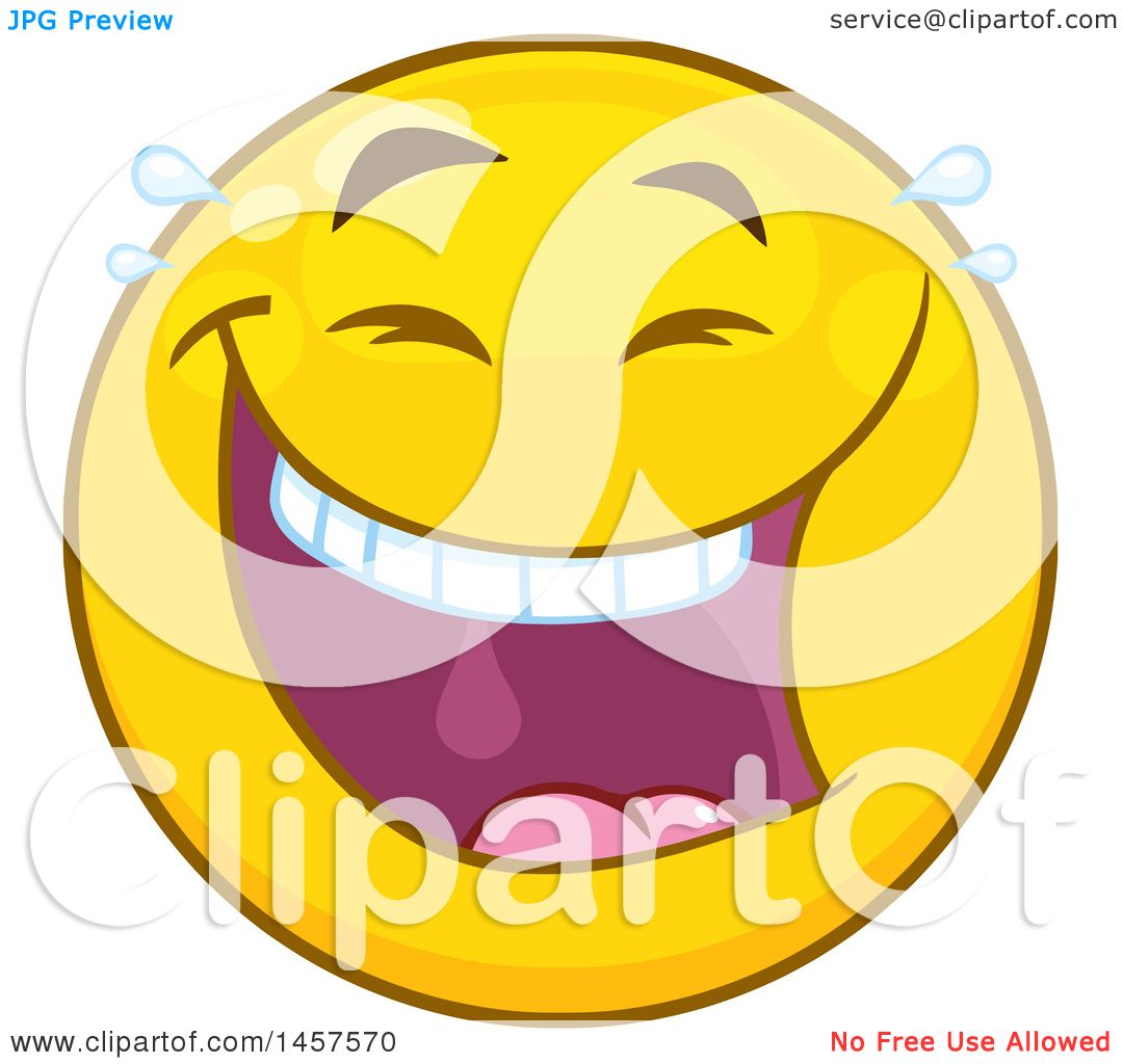 Clipart Of A Cartoon Laughing Emoji Smiley Face