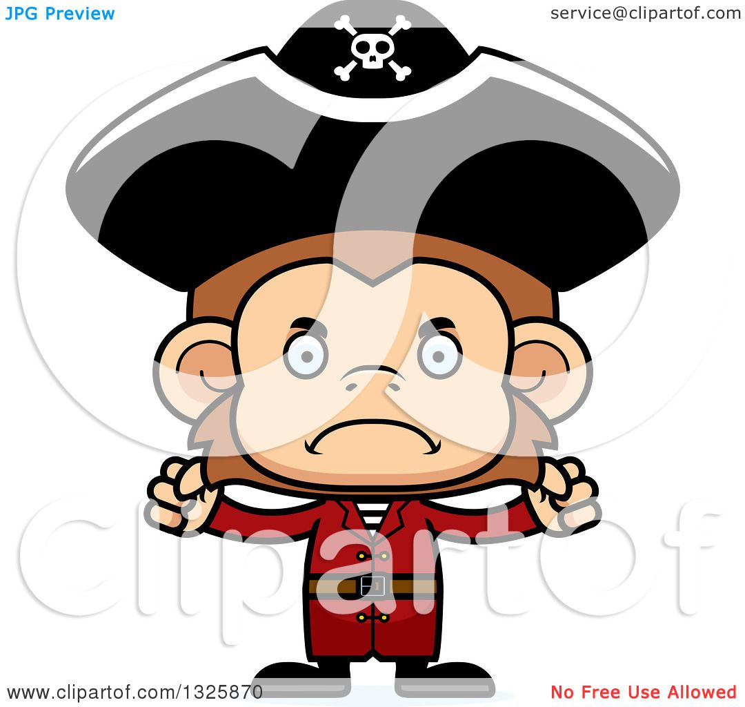 Pirate Monkey Clipart - Pirates Of The Caribbean Clip Art - Free  Transparent PNG Clipart Images Download