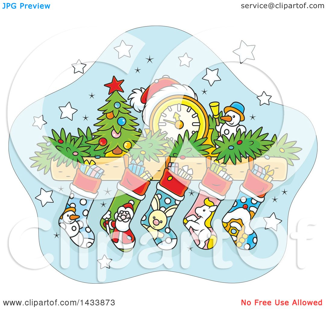 Royalty-Free (RF) Clipart Illustration of a Leafless Christmas Tree ...