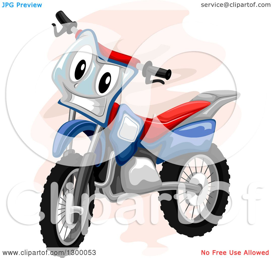 clipart of a cartoon motocross bike character royalty free vector rh clipartof com dirt bike clipart black and white dirt bike rider clipart