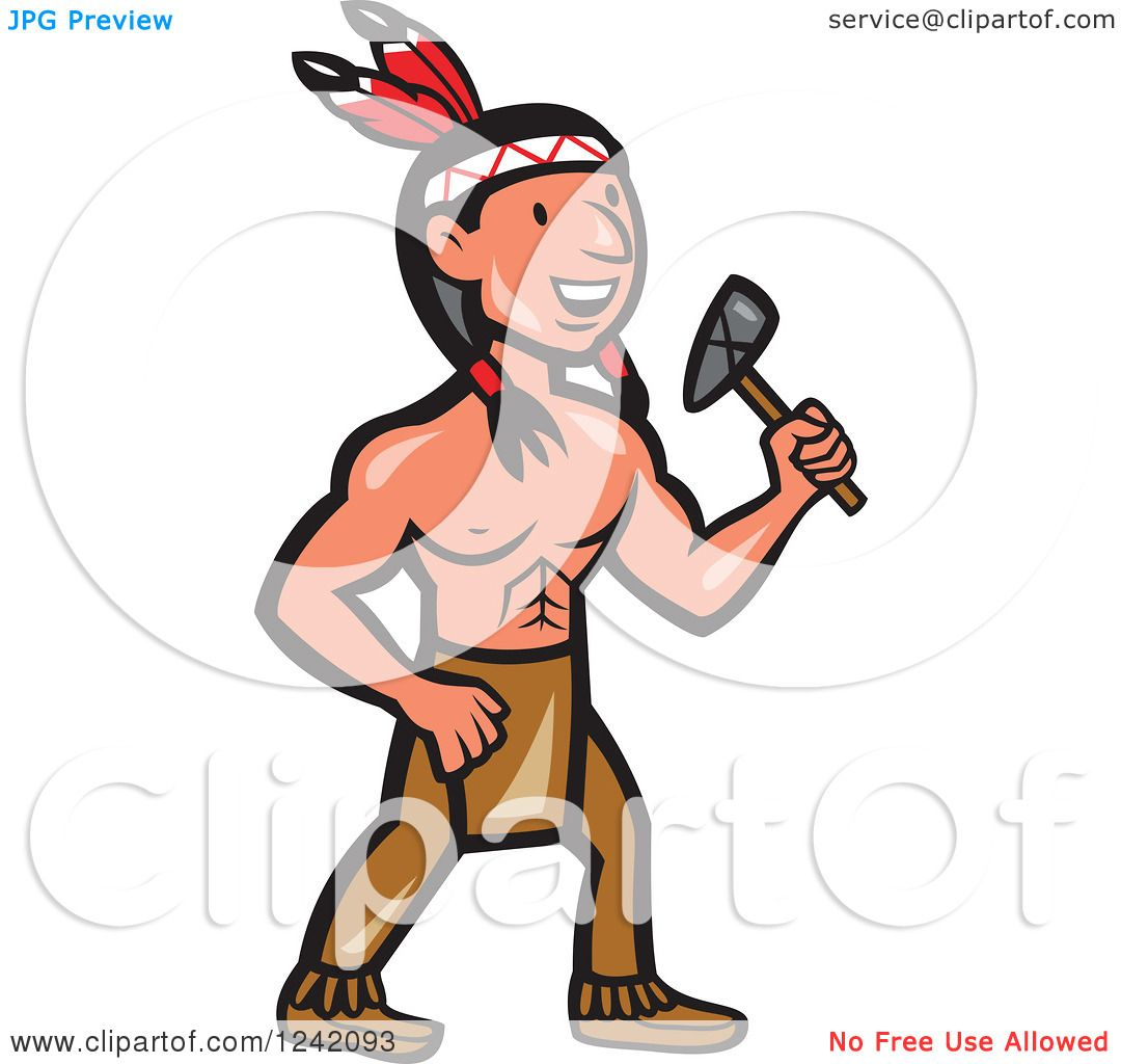 clipart of a cartoon native american indian brave holding indian tomahawk clipart tomahawk clip art free