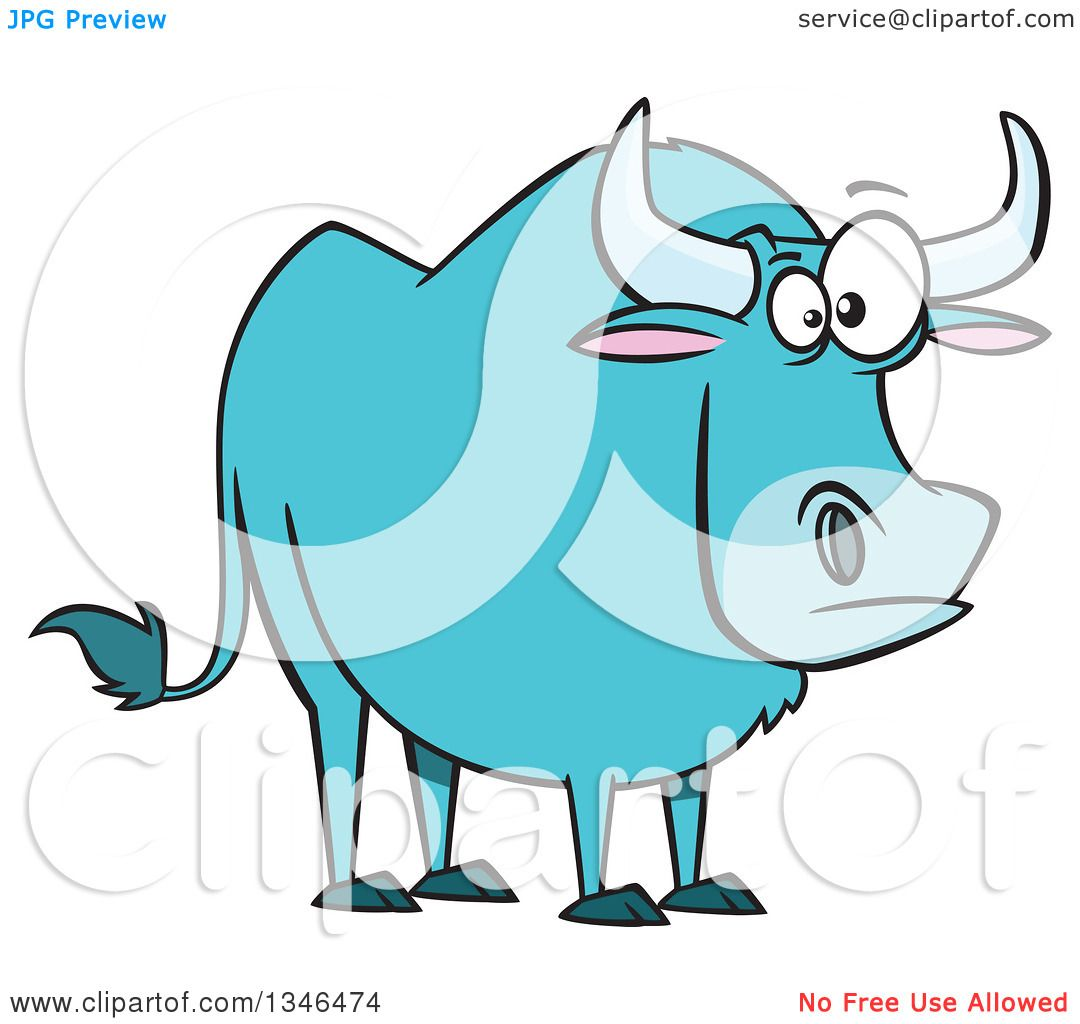 clipart of a cartoon paul bunyan u0027s the blue ox royalty free