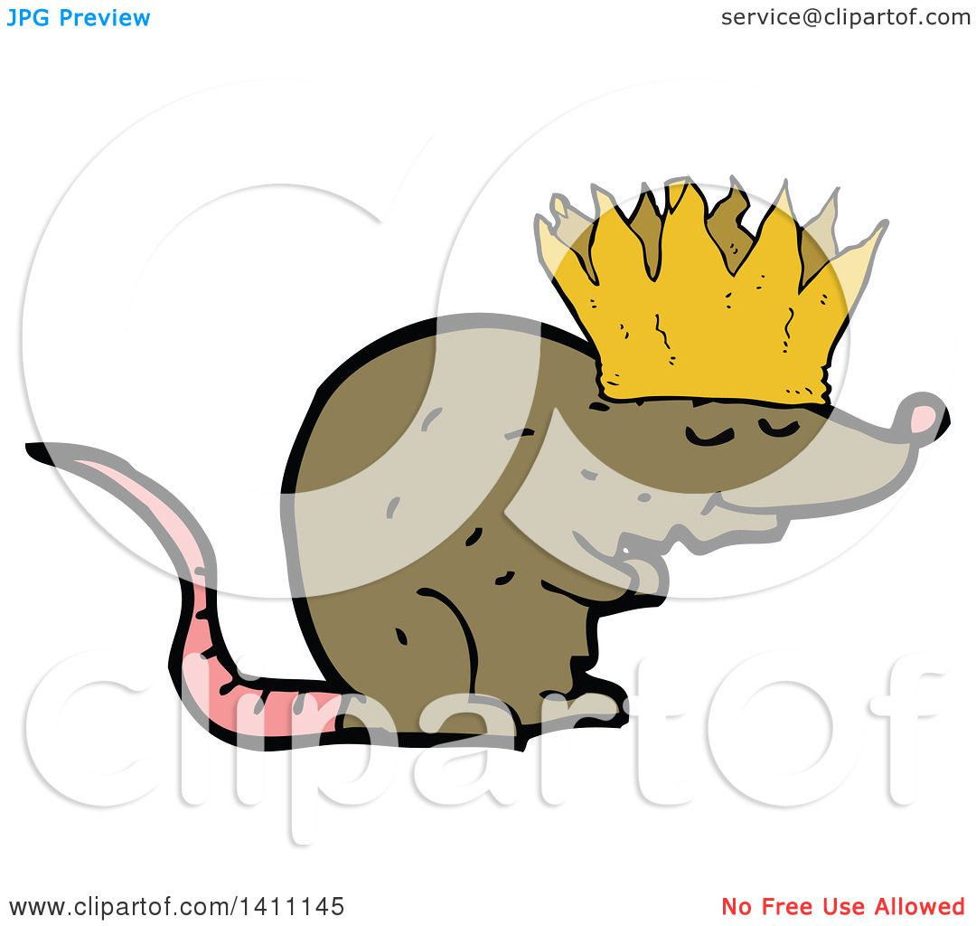 Clipart Of A Cartoon Rat Wearing A Crown Royalty Free Vector Illustration By Lineartestpilot 1411145 We offers crown cartoon products. clipart of a cartoon rat wearing a