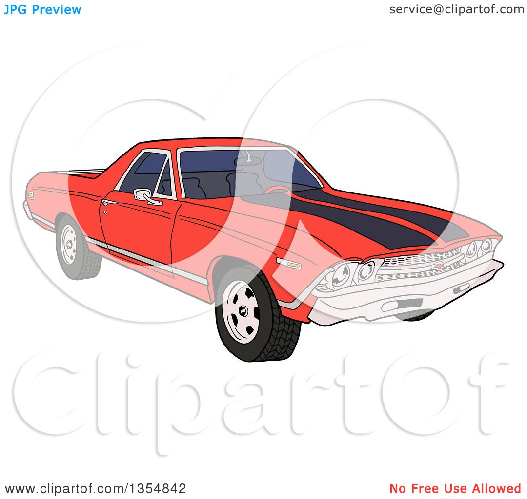 Royalty Free Rf Muscle Car Clipart Illustrations Vector