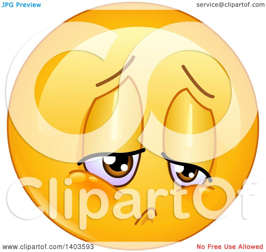Clipart of a cartoon sad yellow smiley face emoij emoticon clipart of a cartoon sad yellow smiley face emoij emoticon royalty free vector illustration by yayayoyo buycottarizona Choice Image