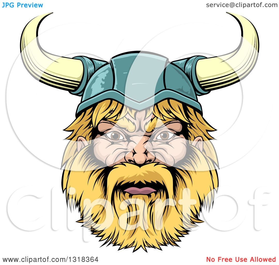 clipart strong viking and sword royalty free vector illustration