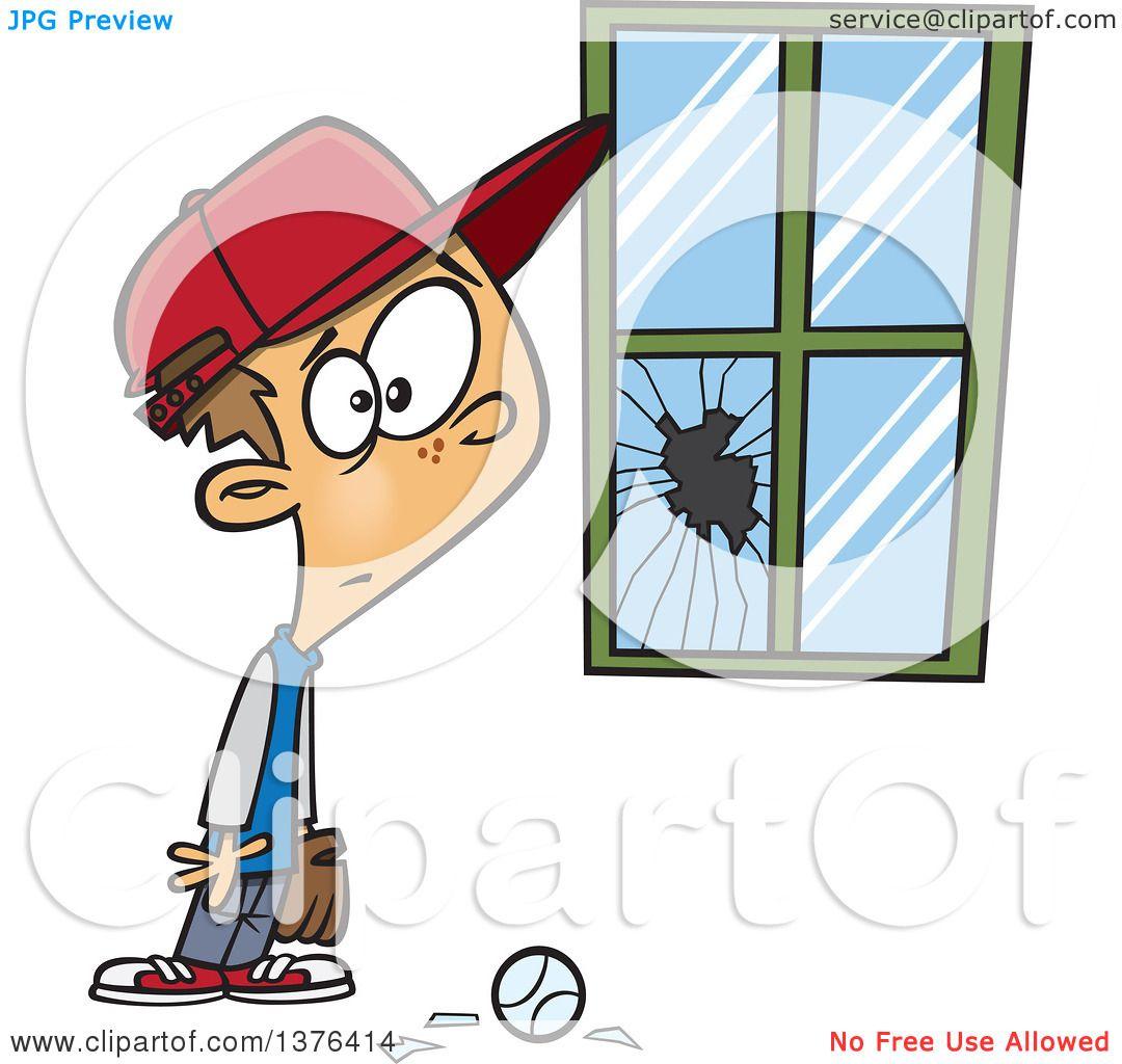 clipart of a cartoon worried white boy standing next to a window rh clipartof com broken window black and white clipart broken window clipart free