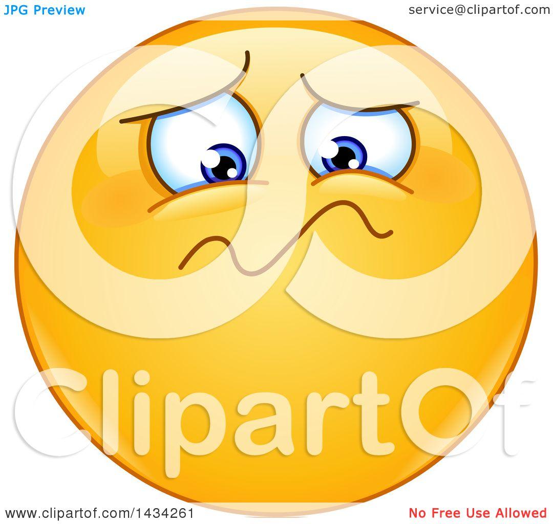 Clipart Of A Cartoon Yellow Emoji Smiley Face Emoticon Feeling