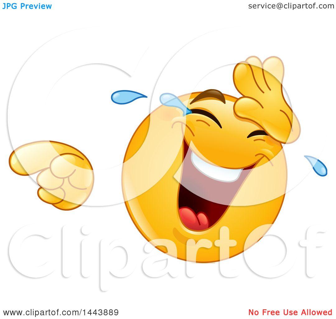 clipart of a cartoon yellow emoji smiley face emoticon laughing rh clipartof com