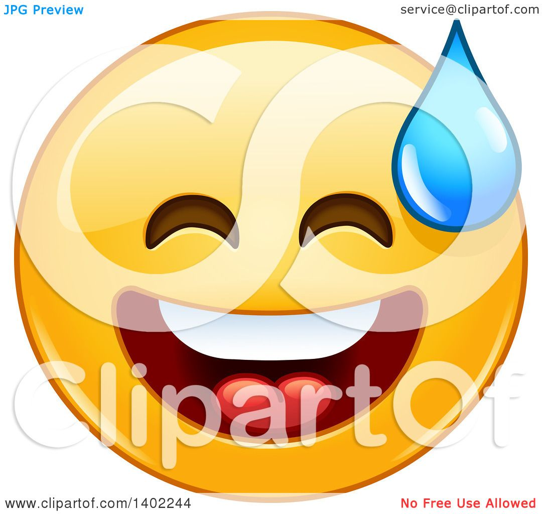 clipart of a cartoon yellow smiley face emoji emoticon breaking out rh clipartof com Sad Smiley Face Clip Art Winking Smiley Face Clip Art
