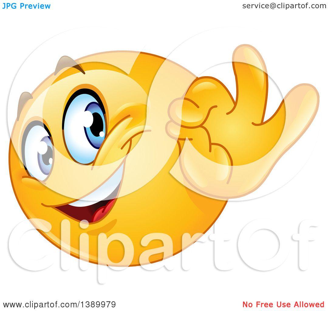 Clipart of a Cartoon Yellow Smiley Face Emoji Emoticon ...
