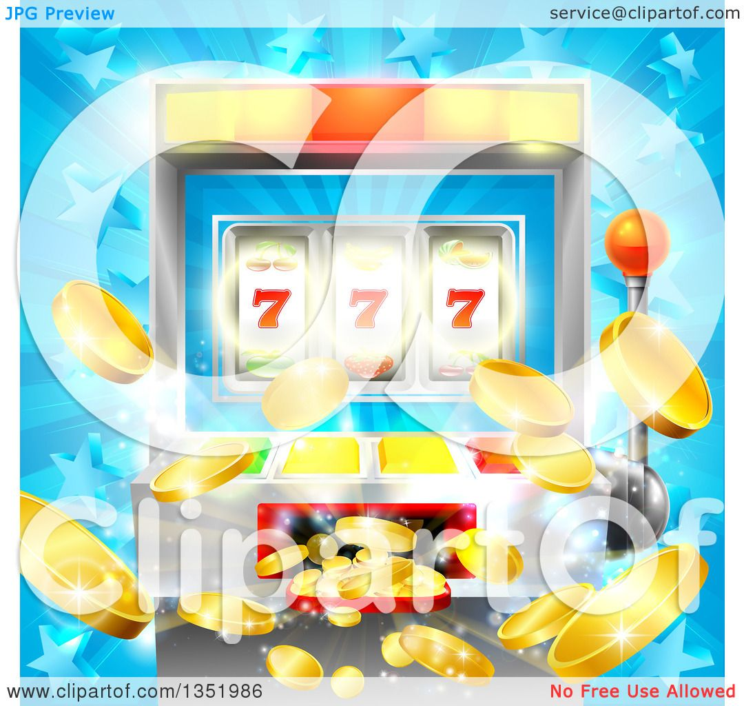 Clipart Of A Casino Slot Machine Jackpot Spitting Out